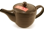 Buy Tea Pot Ceramic with Lid and Tea Leaves Screen (Black)