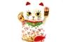 Buy JPC Maneki-Neko (Lucky Fortune Cat with Red Fish Figurine) - 10cm high