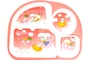 Buy Melamine Kids Plate with 4 sections (Pink)