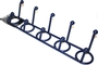 Buy Plastic 10 Hook Rack (Blue)