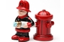 Buy Pacific Magnetic Salt and Pepper Shaker Set (Fireman) - 4 inch