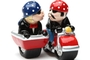 Buy Pacific Magnetic Salt and Pepper Shaker Set (Motorcycle Side Car) - 4 inch