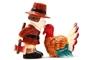Buy Attractive Pilgrim Magnetic Salt and Pepper Shaker Set (Thanksgiving Turkey) - 4 inch