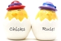 Buy Attractive Magnetic Salt and Pepper Shaker Set (Chicks Rule!) - 4 inch