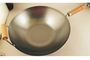 Buy Iron Wok Iron Wok with Wooden Handles - 14 inches diameter