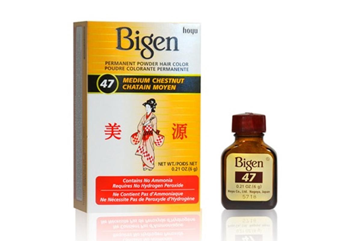 Bigen Permanent Powder Hair Color 47 Medium Chestnuts Hoyu Bigen